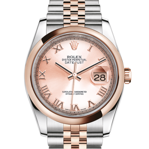 replika rolex Datejust østers 36mm stål og rosenguld 116201