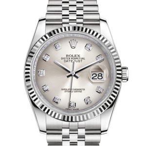 top rolex Datejust østers 36mm stål og hvidguld 116234