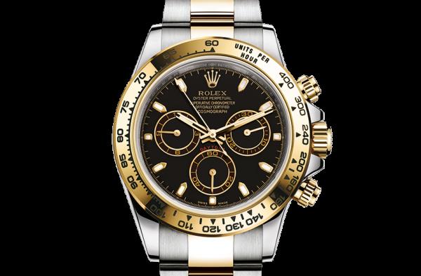 bedst rolex Cosmograph Daytona østers 40mm stål og gul guld 116503