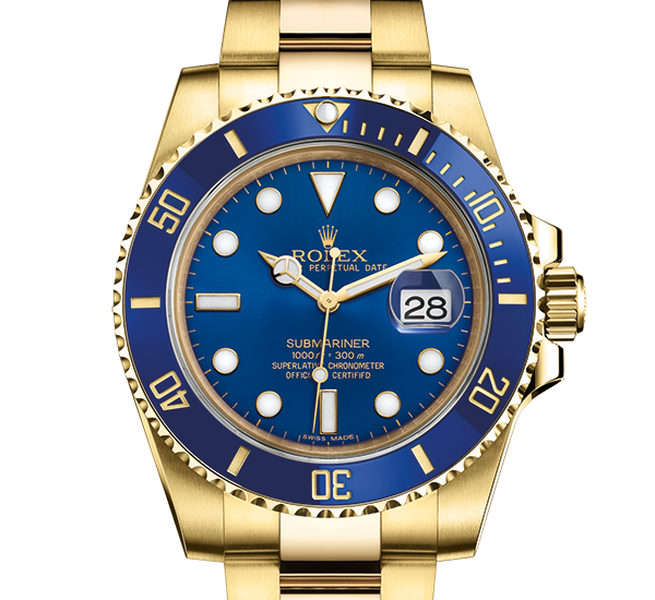 rabat rolex Submariner østers 40mm gul guld 116618LB