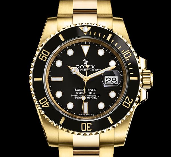 top rolex Submariner østers 40mm gul guld 116618LN