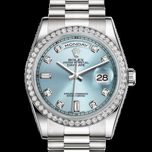 Perfekt rolex Day-Date østers 36mm platin og diamanter 118346