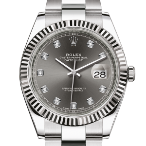 replika rolex Datejust østers 41mm stål og hvidguld 126334