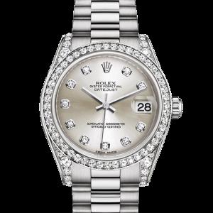 kopi rolex Datejust østers 31 mm hvidguld og diamanter 178159