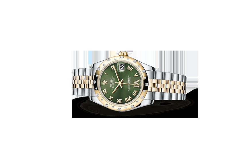 kopi rolex Datejust østers 31mm stål gult guld og diamanter 178343 – Schweiziske replika rolex ure