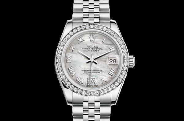 rabat rolex Datejust østers 31mm stål hvidguld og diamanter 178384