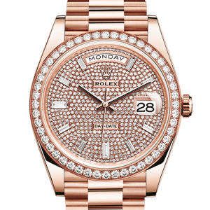 rabat rolex Day-Date østers 40mm rose guld og diamanter 228345RBR