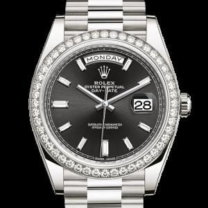 Perfekt rolex Day-Date østers 40 mm hvidguld og diamanter 228349RBR