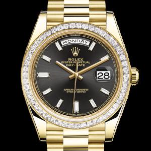 godt rolex Day-Date østers 40mm gult guld og diamanter 228398TBR