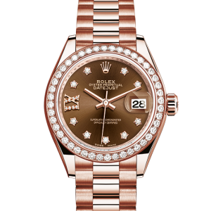 top rolex Datejust østers 28mm rosa guld og diamanter 279135RBR