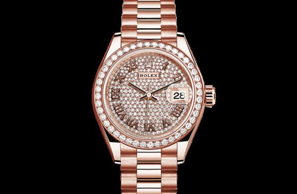 Perfekt rolex Datejust østers 28mm rosa guld og diamanter 279135RBR