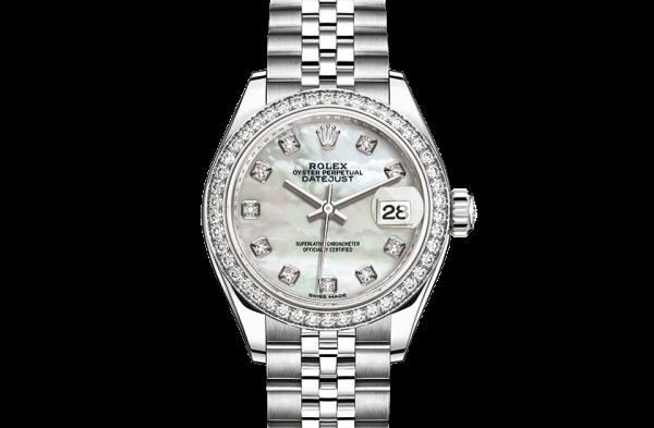 købe rolex Datejust østers 28mm stål hvidguld og diamanter 279384RBR