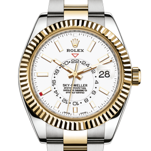 top rolex Sky-Dweller østers 42mm stål og gul guld 326933