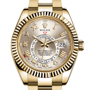 købe rolex Sky-Dweller østers 42mm gul guld 326938