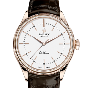 bedst rolex Cellini 39 mm 18 ct rose guld 50505