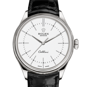 replika rolex Cellini 39mm 18 ct hvidguld 50509