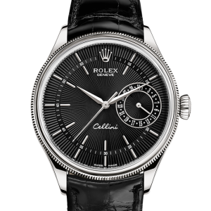 kopi rolex Cellini 39mm 18 ct hvidguld 50519
