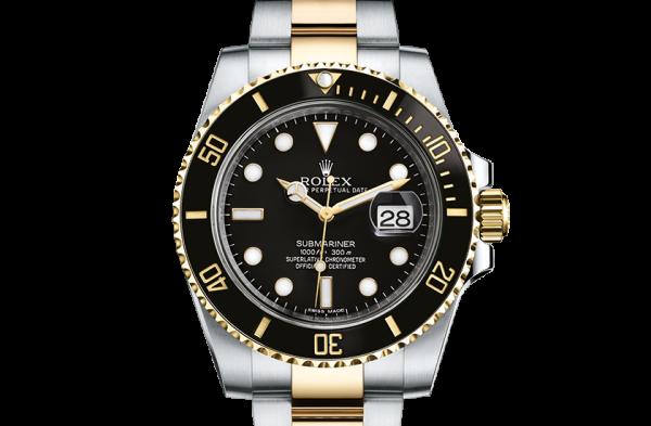salg rolex Submariner østers 40mm stål og gul guld 116613LN
