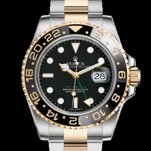 billig rolex GMT-Master II østers 40mm stål og gul guld 116713LN