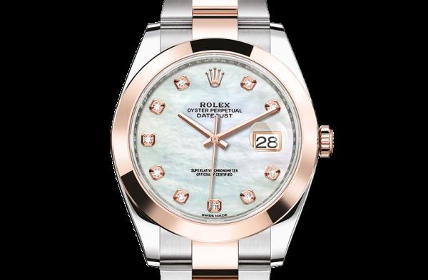 billig rolex Datejust østers 41mm stål og rosenguld 126301