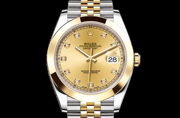 salg rolex Datejust østers 41mm stål og gult guld 126303