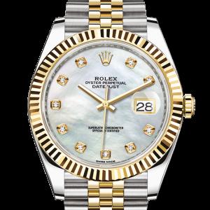 godt rolex Datejust østers 41mm stål og gult guld 126333