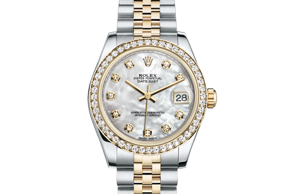 salg rolex Datejust østers 31mm stål gult guld og diamanter 178383