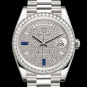 pæn rolex Day-Date østers 40 mm hvidguld og diamanter 228349RBR