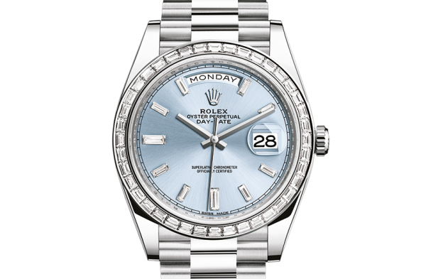 bedst rolex Day-Date østers 40 mm platin og diamanter 228396TBR