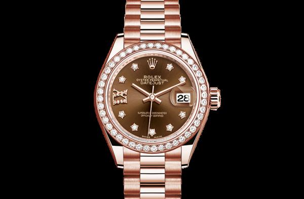 top rolex Datejust østers 28mm rosa guld og diamanter 279135RBR