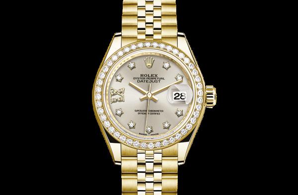 bedst rolex Datejust østers 28mm gult guld og diamanter 279138RBR