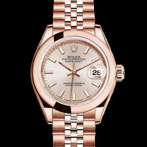 falsk rolex Datejust østers 28mm rosa guld 279165