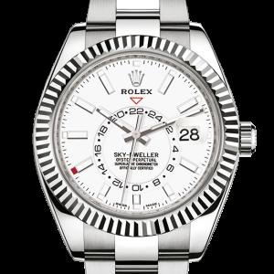 Perfekt rolex Sky-Dweller østers 42mm stål og hvidguld 326934